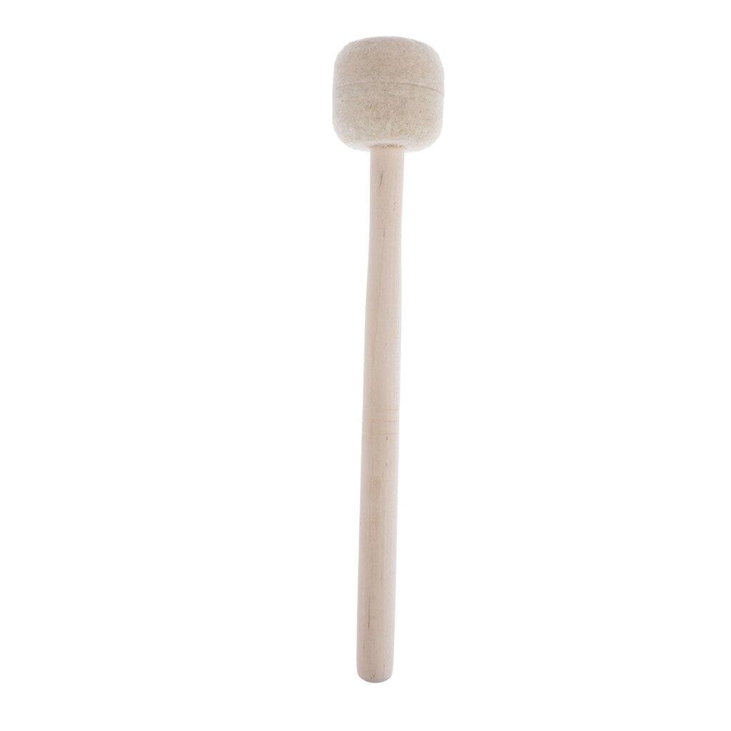 Percusión de cabeza de fieltro de lana, mazo de tambor de graves...