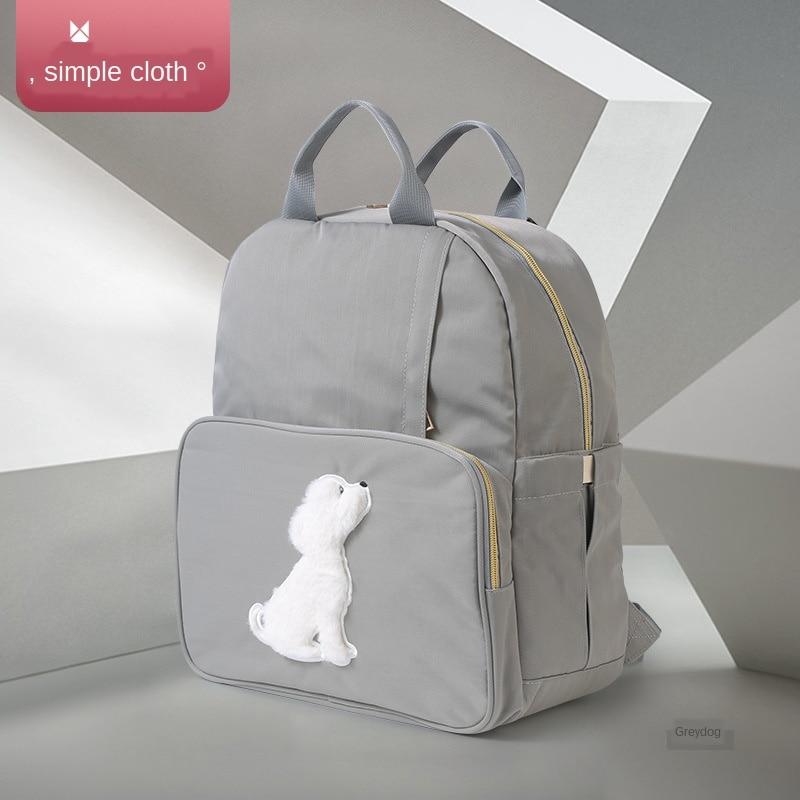 Mochila para pañales con diseño de gato conejo y perro, mochila multifunción de gran capacidad para madres, bolso de viaje para pañales para bebés