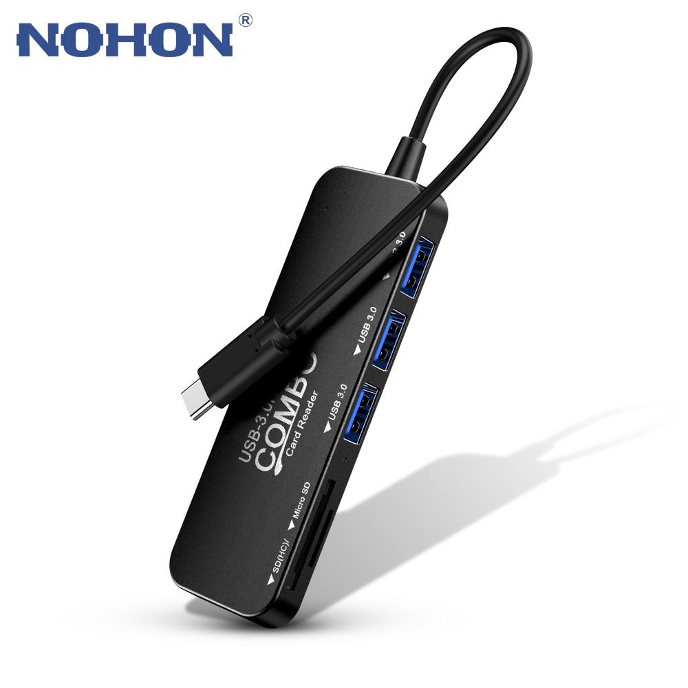 USB Typ C USB-C HUB USB 3,0 TF SD Kartenleser Thunderbolt 3 Dex Modus Adapter Für MacBook Air Pro samsung S8 S9 Lade Port