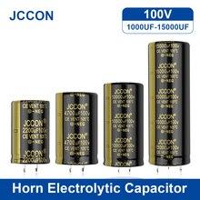 JCCON-condensador electrolítico de Audio para amplificador Hifi, 100V, 1000UF, 2200UF, 3300UF, 4700UF, altavoz ESR de baja frecuencia, 2 uds.