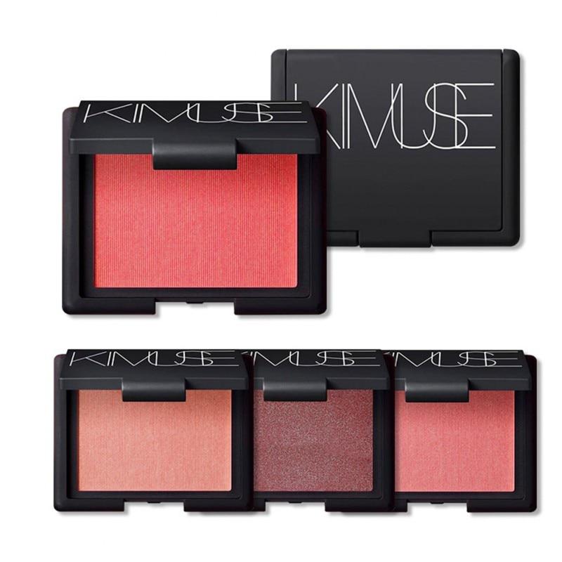 Espejo KIMUSE, paleta de maquillaje de rubor rosa y naranja, maquillaje natural de purpurina, cosmética fácil de usar, rubor mostrado joven