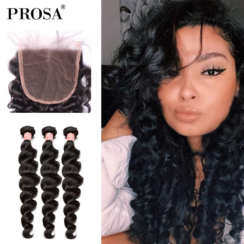 Loose Deep Wave Human Hair Bundles Brazilian 100% Human Beautiful 26 Inch Bundle Hair Bundles Deals