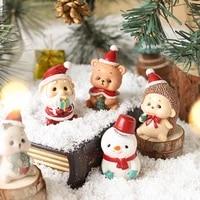 Decorations de noel en resine  pere noel bonhomme de neige  decoration de la maison  Elk  cadeaux  artisanat  Table  deco  nouvel an 2021