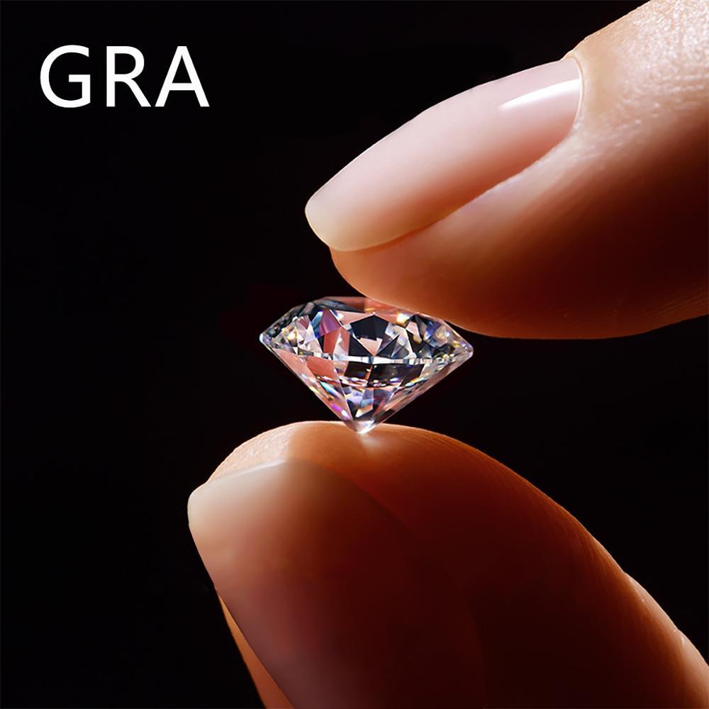 100% ريال 1.5ct مويزانايت مفكوك الأحجار الكريمة حجر مستدير D اللون VVS1 Cvd الماس مختبر نمت جوهرة تمرير الماس تستر بالجملة