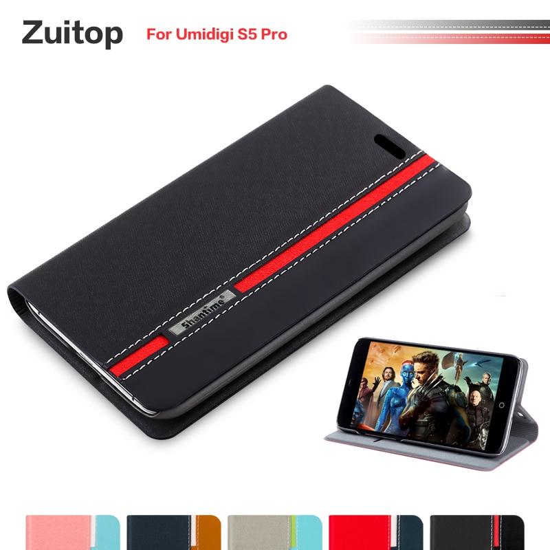Cowboy PU Leather Phone Bag Case For Umidigi S5 Pro Flip Case For Umidigi S5 Pro Business Case Soft Silicone Back Cover