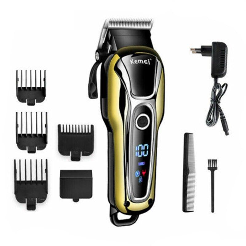 Máquina de Cortar Profissional para Homens Cabelo Elétrica Recarregável Golden Clipper Aparador Barba Salão Corte Máquina