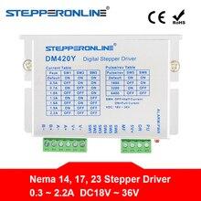 Digital Stepper Motor Driver 0.3-2.2A DC18V~36V for Nema 14, 17, 23 Stepper Motor DM420Y