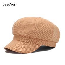Czapka Beret ośmiokątny kapelusz dla kobiet chusta czapka gazeciarza Vintage modna czapka kobiety bawełniane kapelusze damskie wiosna jesień Gorras 2020 nowy