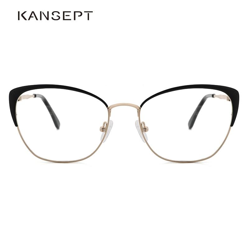 KANSEPT lunettes cadre femmes chat oeil lunettes Transparent myopie lunettes cadre nouveau blanc élégant pour les femmes MS3535
