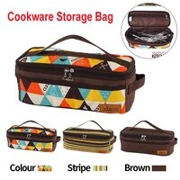 cooking utensils organizer bag portable pouch travel storage bag for picnic hiking bbq camping outdoor cooking