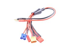 Fuse 5-in-1 Banana Plug Squid Charge Lead Cord  banana Adapter - T-Plug JST EC3 XT60 bare wires RC Products