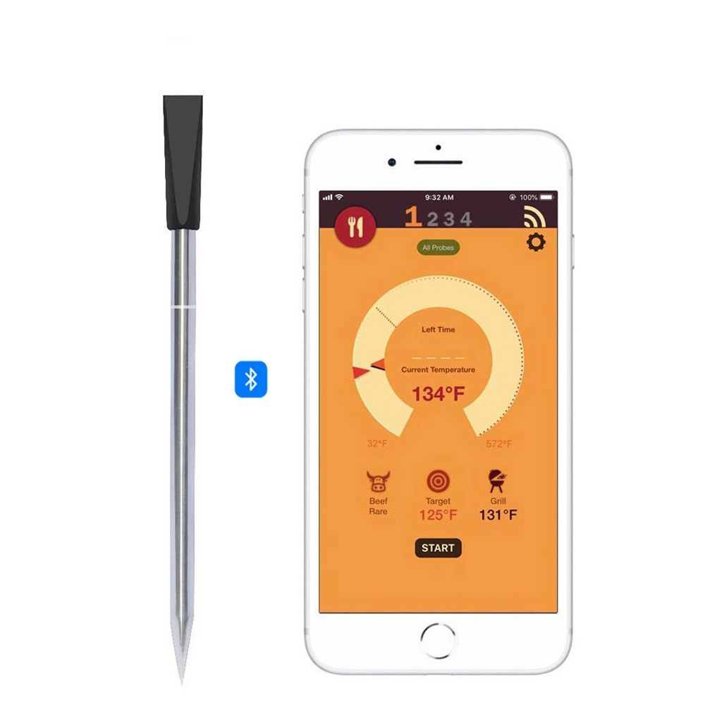 USB Mini Bluetooth Lebensmittel Thermometer APP Wireless BBQ Küche Thermometer Edelstahl Sonde Thermometer