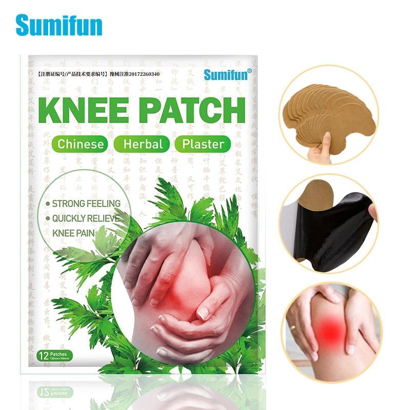 Sumifun 12 шт./пакет, новый коленный пластырь, стикер из полыни, экстракт коленного сустава, боли в болях, ревматоидный артрит, патч K04601