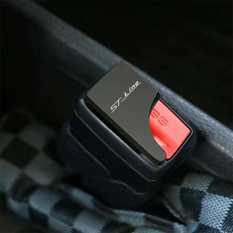 1 шт., скрытая Пряжка из цинкового сплава для Ford Focus ST Mondeo ST line, автомобильные аксессуары