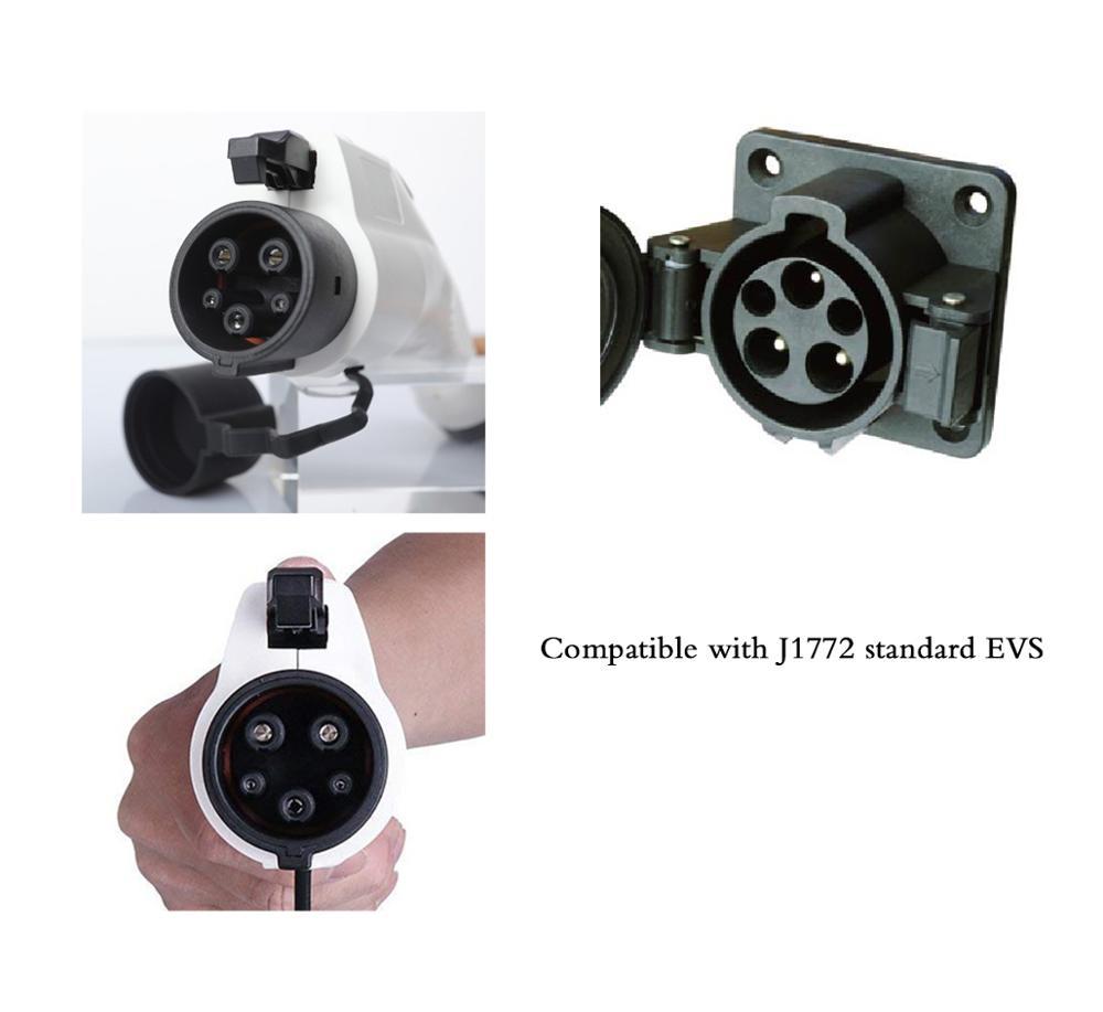 YKS-ESNES j1772 EVSE Electric Car Charger Lever2 6A 8A 10A 12A 16A EV Charging Cablke NEMA 6-20 Plug EV fast charger enlarge