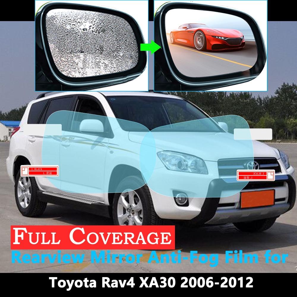 Полное покрытие Защитная пленка для Toyota Rav4 XA30 RAV 4 30 2006 ~ 2012 Автомобильное зеркало заднего вида непромокаемые противотуманные пленки аксессуары 2011