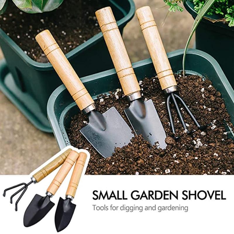 3pcs/set Mini Shovel Rake Set Multifunction Gardening Hand Tools For Flowers Succulent Plants Potted Plants Mini Garden Tools