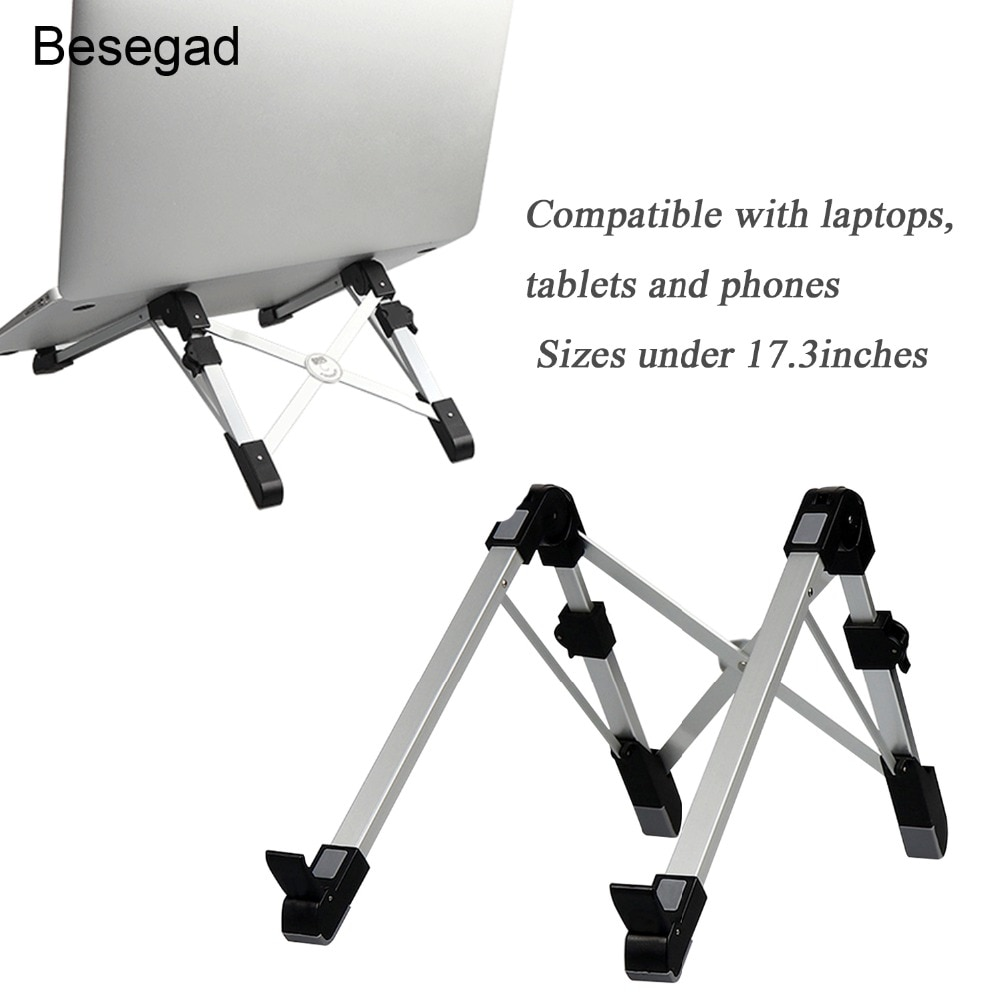 Besegad plegable ajustable Tablet PC Laptop Smartphones enfriamiento soporte para iPad Mini iPhone Apple Macbook