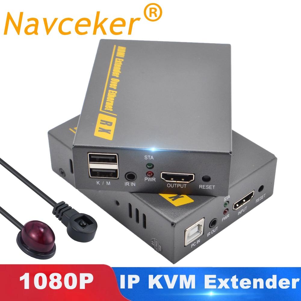 150m IP KVM Extender USB HDMI Unterstützung IR ZY-DT103KM HDMI KVM Extender Über TCP/IP Durch RJ45 UTP/STP KVM Extender CAT5 CAT6 Netzwerk