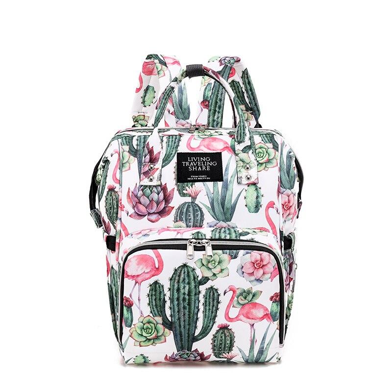 Printing Diaper Bag Backpack, Nylon Multi-Function Waterproof Maternity Baby Nappy Tote Bags for Mom - Large Capacity mami