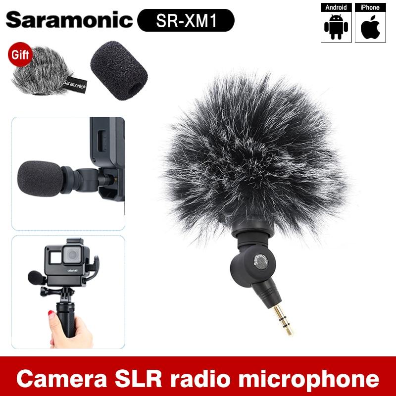 Saramonic SR-XM1 3.5 مللي متر اللاسلكية ميكروفون GoPro Vlog الفيديو Mic ل Gopro 8 ماكس 7 6 TRS التوصيل عمل كاميرا DSLR سوني RX100 السابع