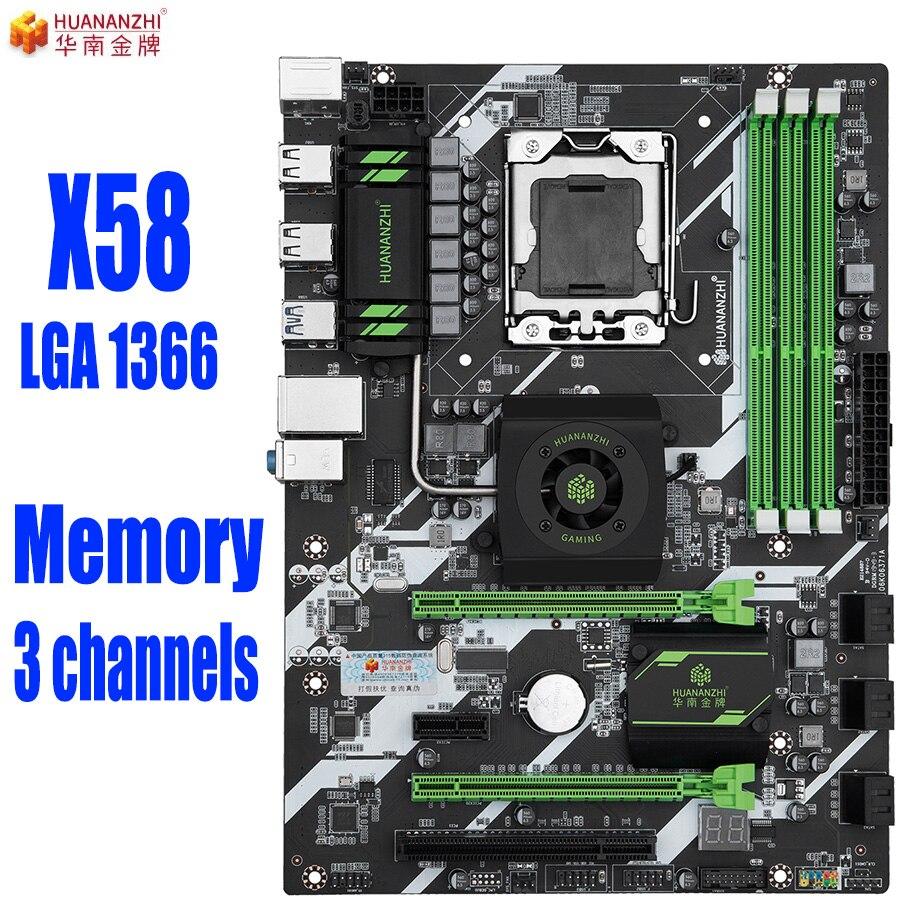 HUANANZHI X58 LGA 1366 материнская плата памяти 3 канала LGA1366 поддержка REG ECC DDR3 и xeon процессор USB3.0 AMD RX серии