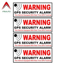 Aliauto 4 X Caution Mark Reflective Car Sticker Warning Gps Security Alarm Accessories PVC Decal for