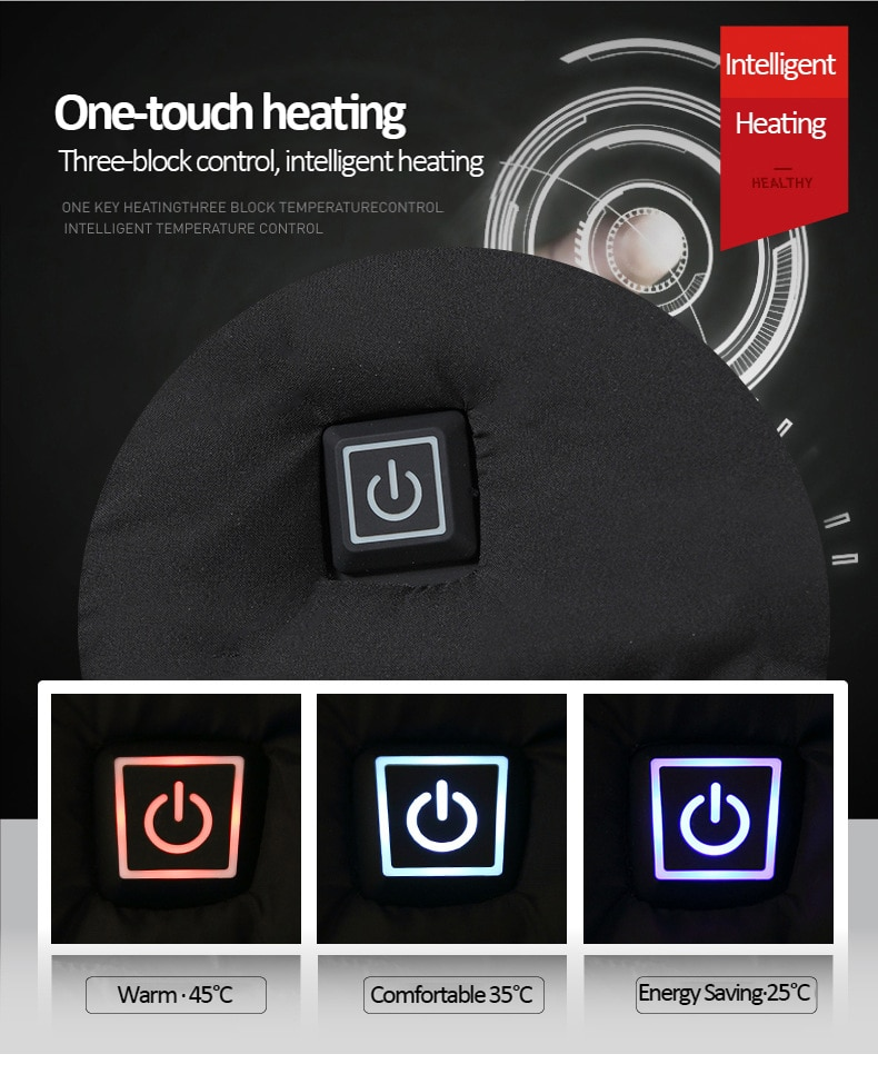 Moški zimski topli grelni jopiči USB, pametni termostat, ogrevana - Moška oblačila - Fotografija 3