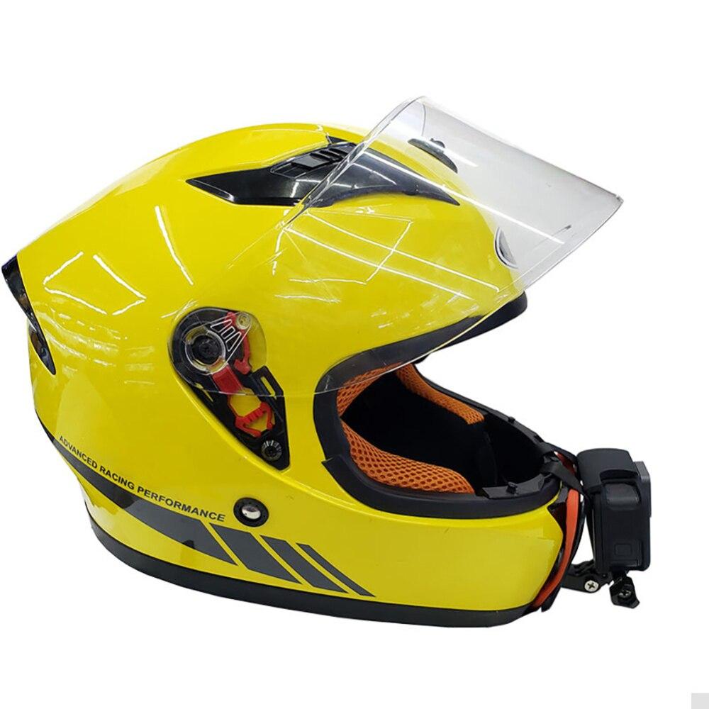 Soporte de montaje de barbilla de máscara completa para casco de motocicleta, soporte de barbilla para Cámara de Acción