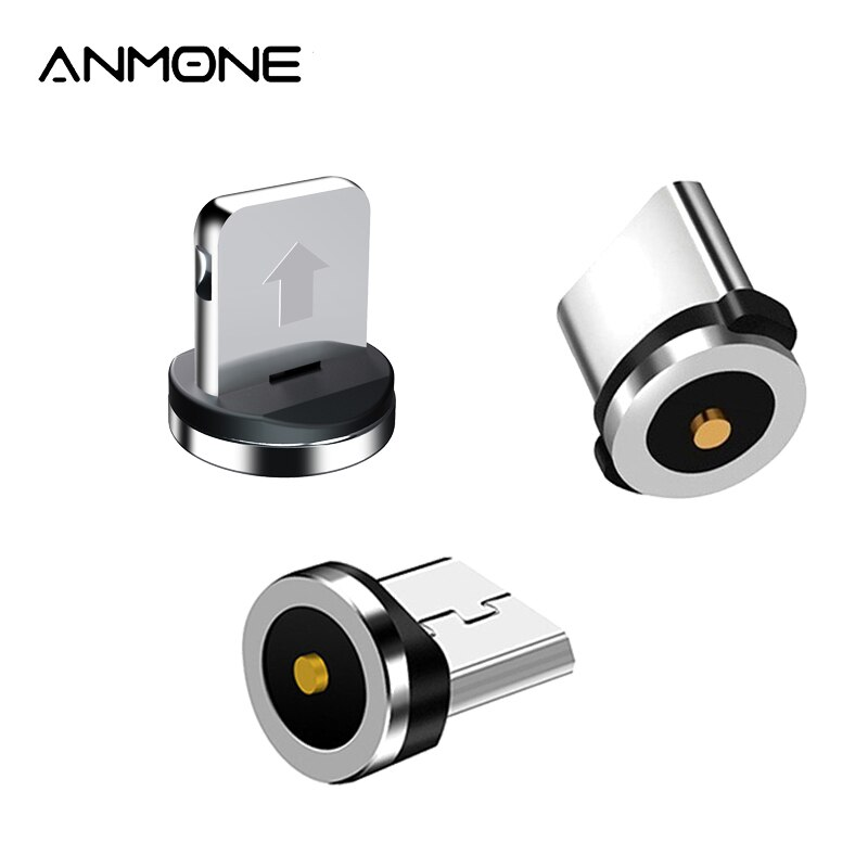 Magnetic Plug 2 Pin Magnetic Charging Cable Adapter Micro USB Type C Magnet Connector Mobile Phone D