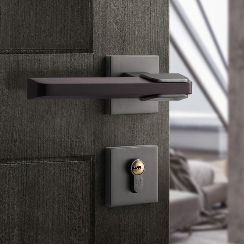 الحديث الداخلية مقبض الباب الميكانيكية مجموعة غلق غرفة نوم صامت مكافحة سرقة قفل الباب الأثاث تجديد الأجهزة لوازم