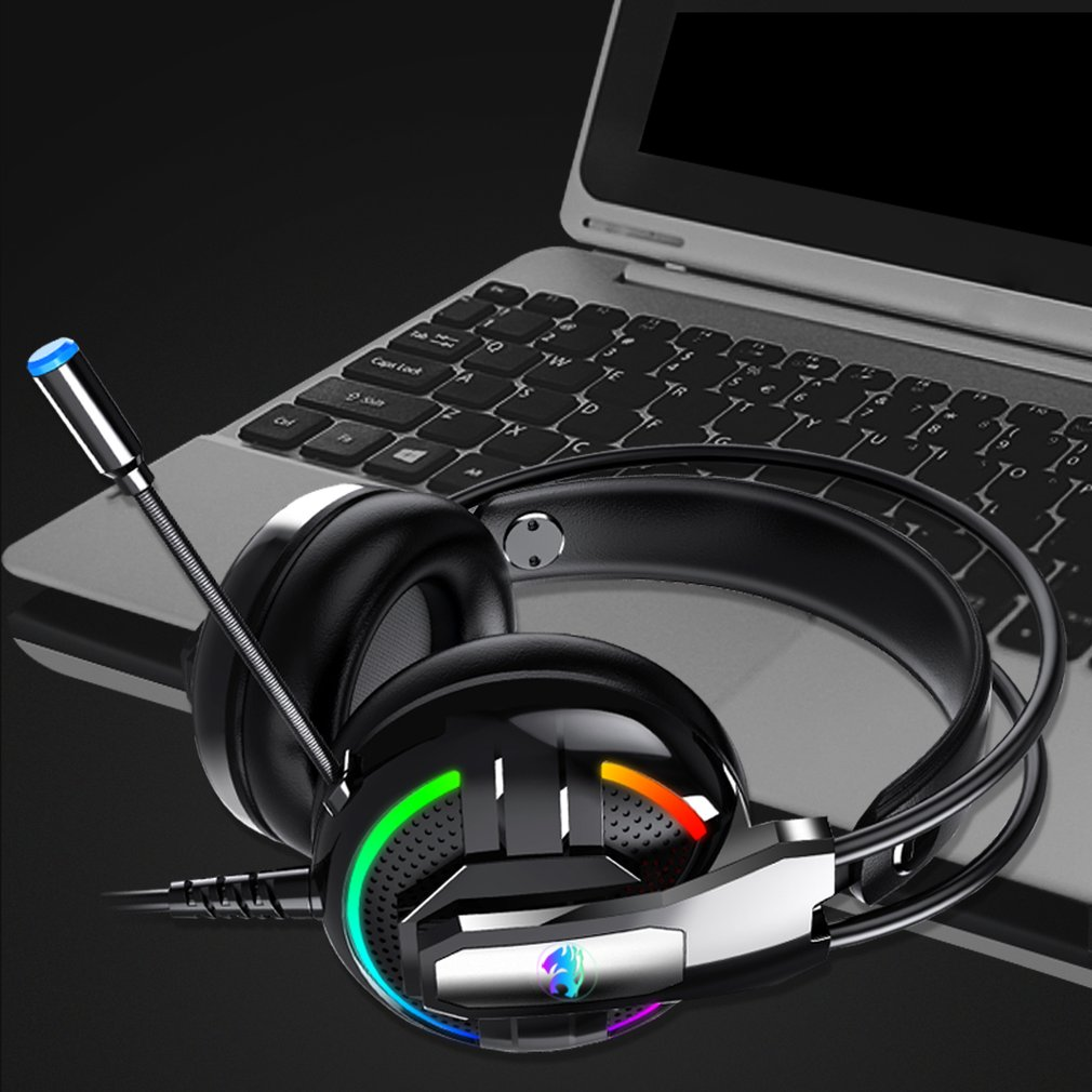 A18 RGB LED Gaming Headset Headphone Game Headphones With Microphone Super Bass Stereo Haedphone For PC Computer Phone Gamer