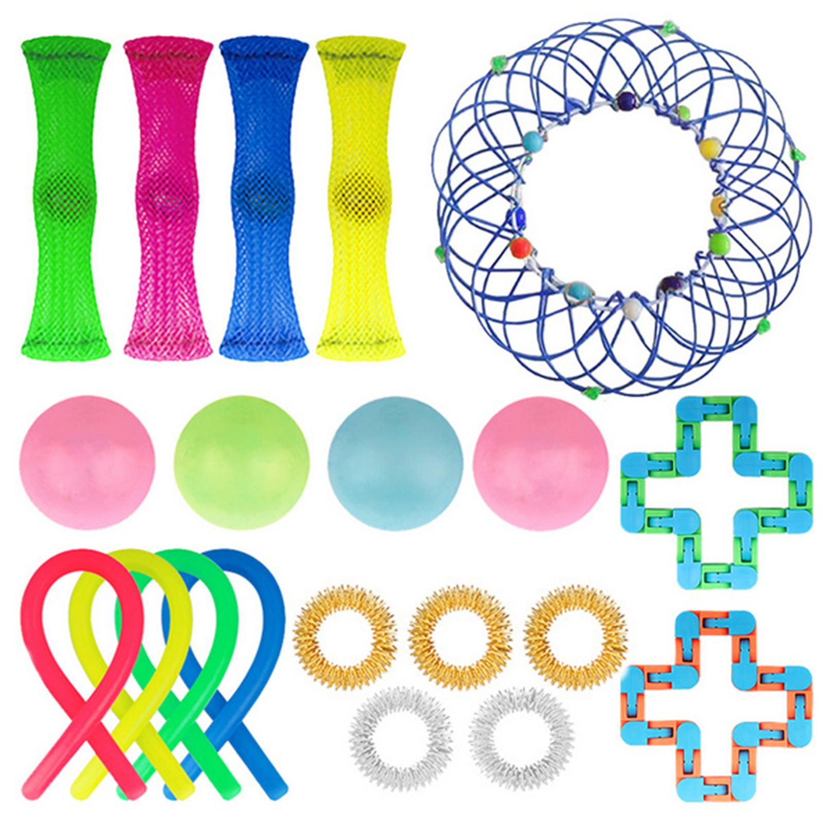 20 IN 1 Fidget Antistress Toys Noodle Rope Decompression Antistress Simple Dimple Hand Anxiety Toy For Children Kids Adults enlarge