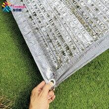 Tewango-filet en aluminium reflète le soleil   Filet dombrage argenté 90% UV, bloc daluminium, couverture de plantes en plein air, lumière du soleil 2x4m