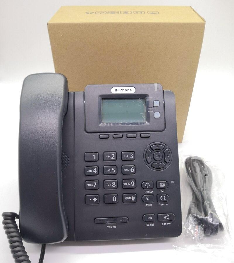 Teléfono inalámbrico fijo VoIP, pantalla LCD 2,7 Con línea fija POE /SIP,...
