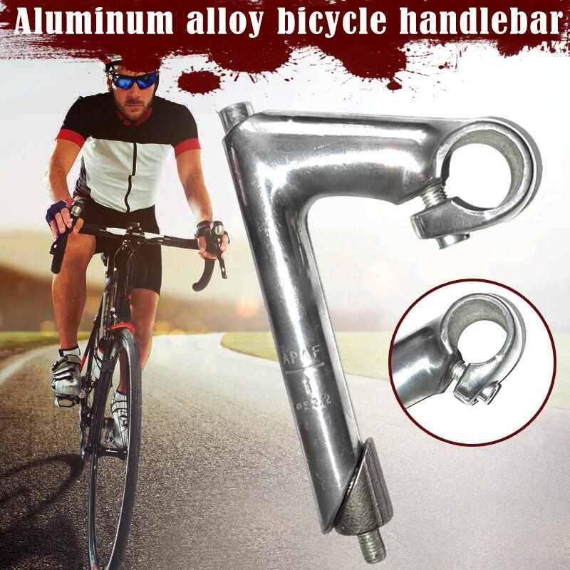 Vástago de cuello de ganso de pluma de bicicleta clásica para manillar de aleación de aluminio Retro elevador de manillar de bicicleta 25,4 accesorios de bicicleta de carretera SEC88