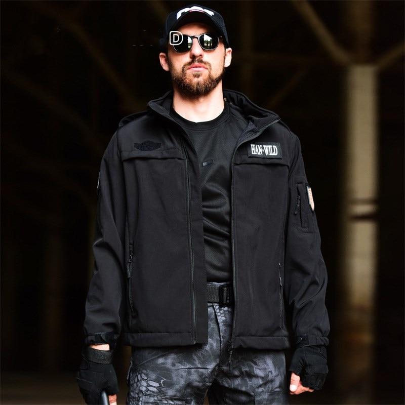 Chaqueta impermeable para senderismo al aire libre para hombre, deportes de escalada de invierno, abrigo con capucha de lana suave, abrigo militar, chaquetas tácticas
