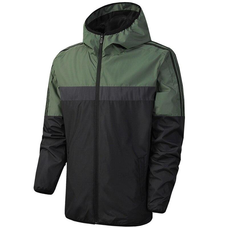 Брендовая демисезонная мужская Тонкая куртка, уличная одежда с капюшоном, приталенная мужская верхняя одежда, пальто, Повседневная Уличная...