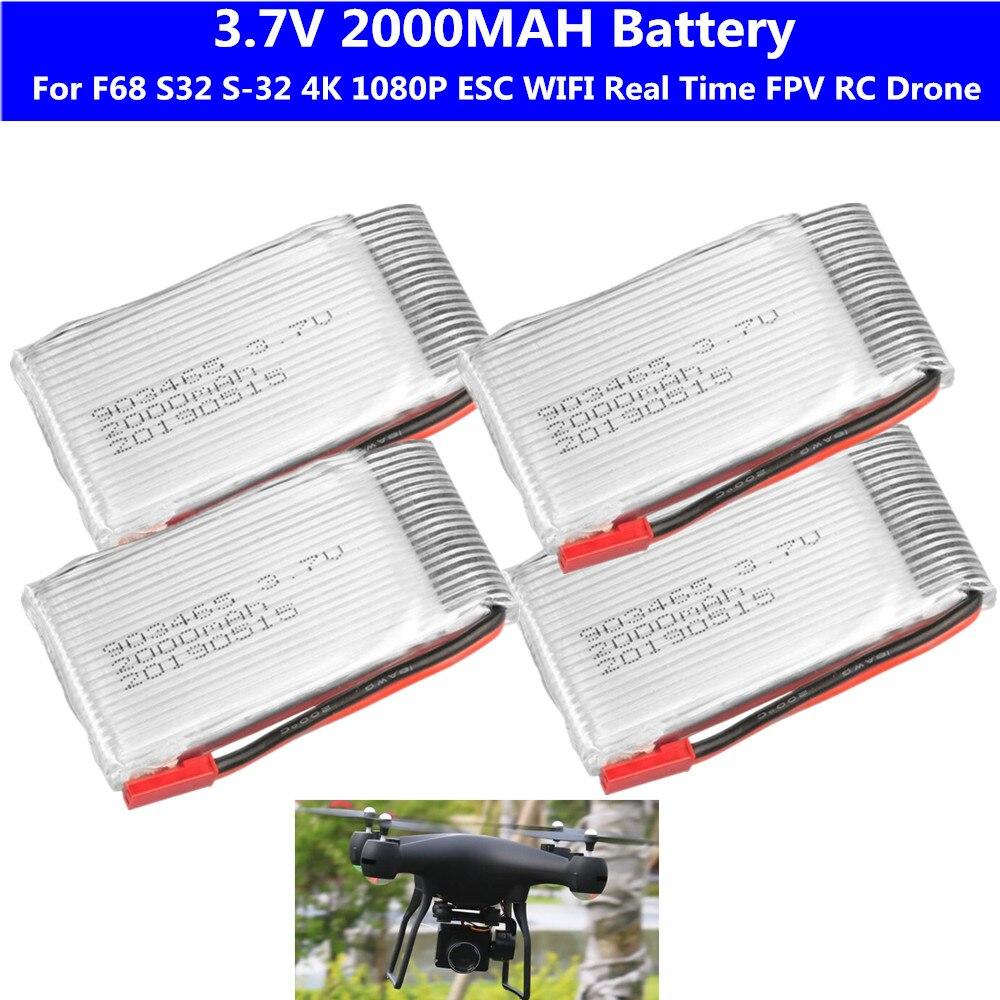 S32 S-32 F68 Selfie 4K 1080P ESC широкоугольный объектив камера wifi запасная деталь для радиоуправляемого дрона 3,7 V 2000mah батарея 2 шт. 3 шт. 4 шт. батарея