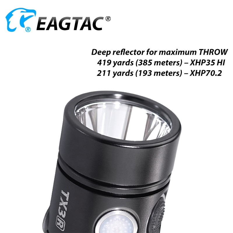 EAGTAC TX3L LED Flashlight Powerful Super-Bright-Torch 3000 Lumens USB Rechargeable Waterproof Hunting Camping 18650 Battery enlarge