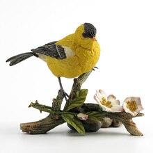 Cadeau danniversaire de chaffinch jaune réaliste de concepteur britannique articles dameublement de style chaud produits dusine préférentiels