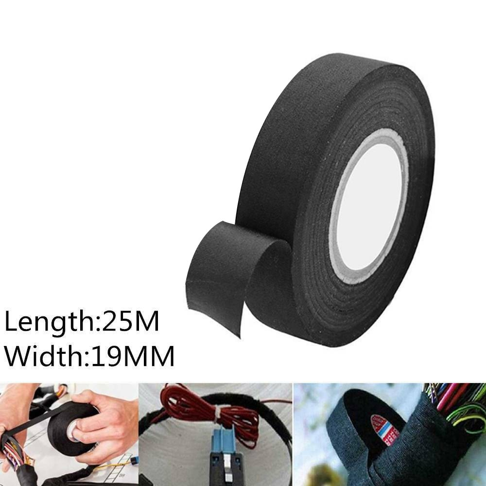 Фото - 19mm*25m Harness Electric Loom Tape Insulation Wire Fabric Adhesive Cloth Tapes Wire Loom Cloth Fabric Tape the loom пальто