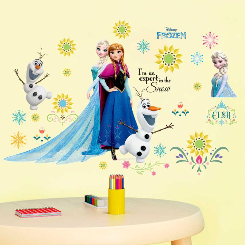 Cartoon Disney Gefrorene Prinzessin Wand Aufkleber Anna Und Aisha Puzzle Kinder Zimmer Dekoration Pvc Diy Pegatinas Autocollant Enfant Wandaufkleber Aliexpress