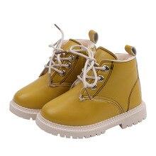 Bottines Martin en caoutchouc PU pour enfants   Chaussures dhiver, courtes, en velours, pour filles, nouvelle collection 2020