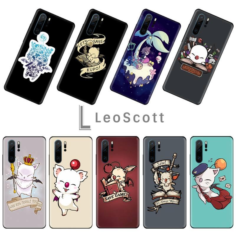 Final Fantasy Moogle teléfono caso Capa para Huawei P 9 8 10 40 Mate 30 Honor 8 8A 20 20s 9x nova 6se 5t Y9s PSMART lite pro 2017
