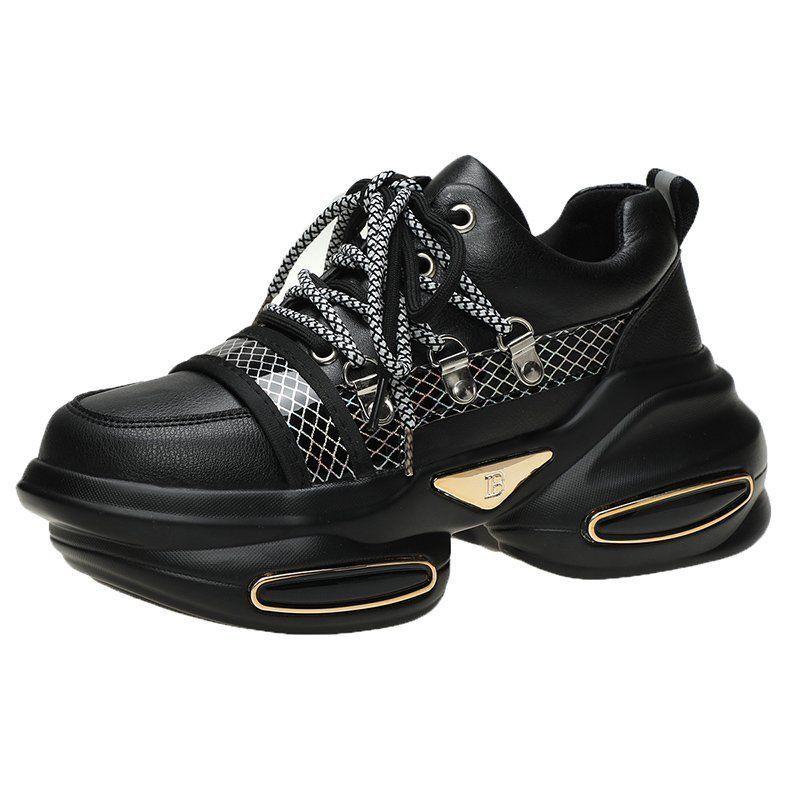 Туфли женские на толстой подошве, модная повседневная спортивная обувь с воздушной подушкой, в стиле интернет-знаменитостей, весна-лето 2021