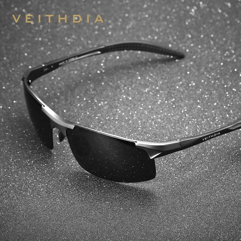 VEITHDIA, gafas de sol polarizadas de aluminio de diseñador para hombre, gafas de sol, accesorios para hombres, gafas de sol masculinas 6518
