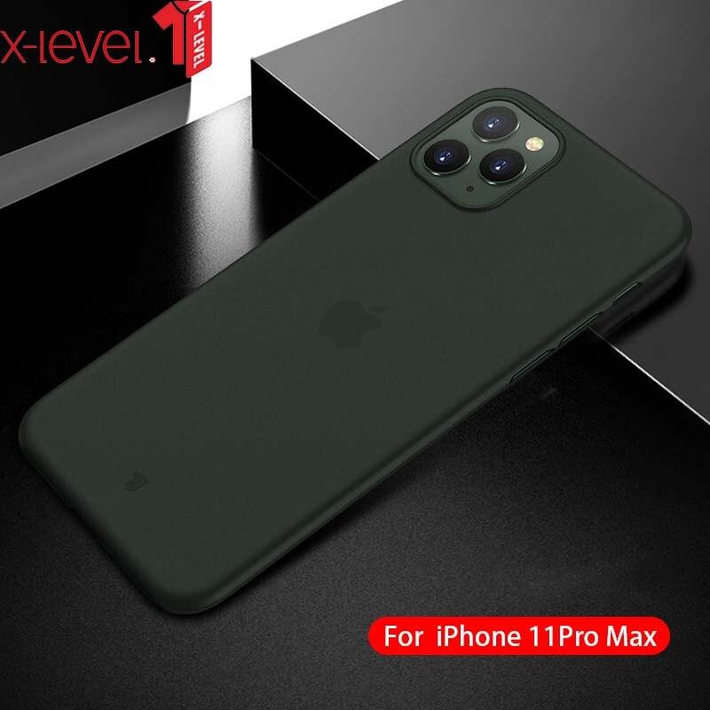 Funda trasera para iPhone 11 funda x-level Ultra delgada mate transparente para iPhone 11 Pro Max funda para iP 11