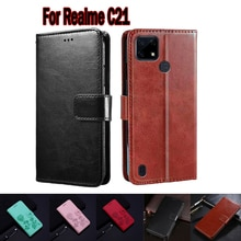Case For Realme C21 Cover Funda Phone Protective Shell Hoesje Case For RealmeC21 Flip Wallet Leather