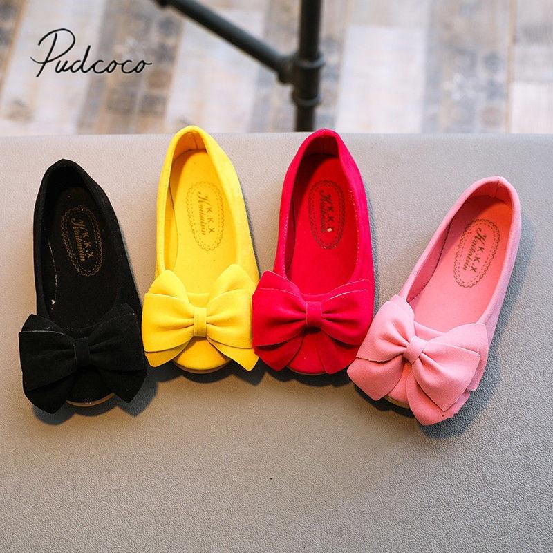 New Fashion Children Princess Dance Shoes Kids Girl Dress Party Shoes Flats Casual Single First Walk